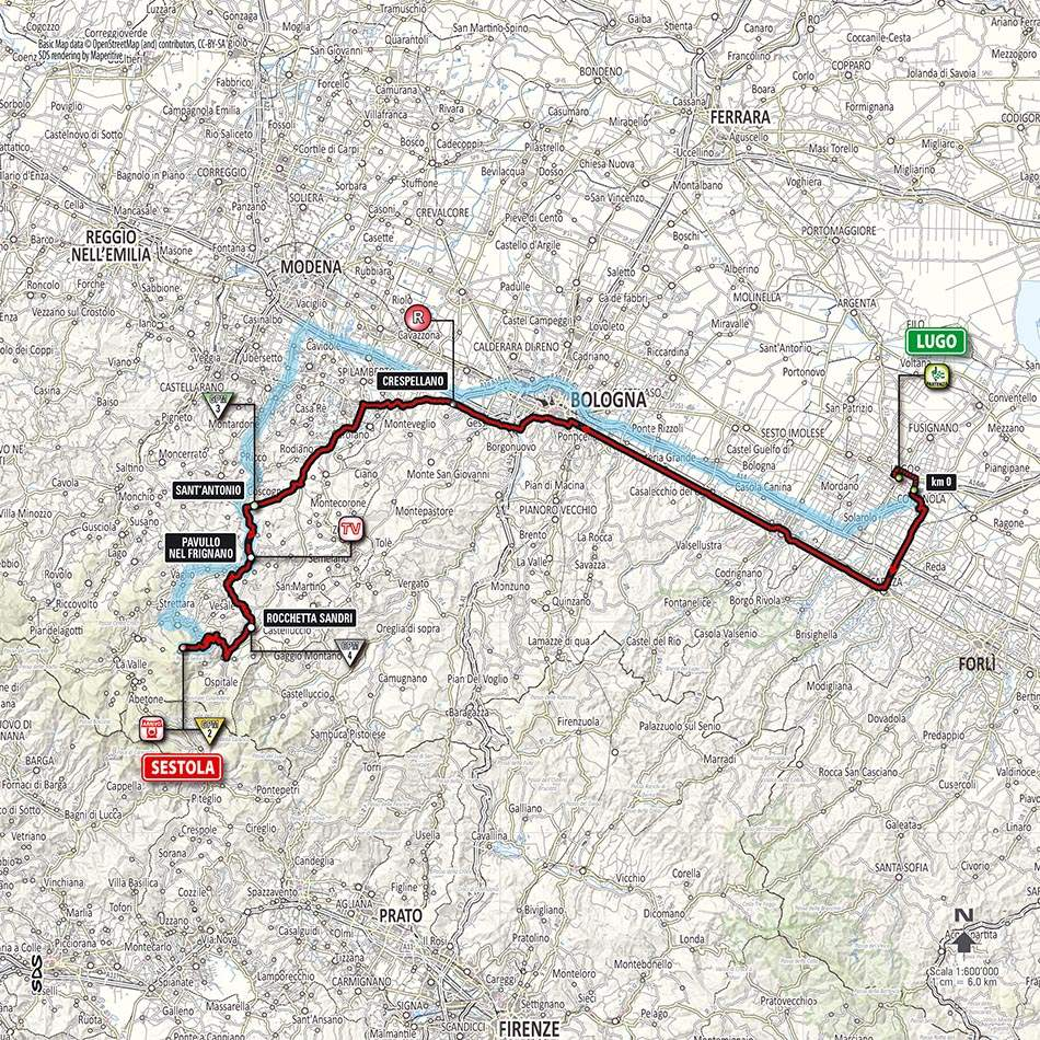 Giro d'Italia 2014 stage 9 map (new)