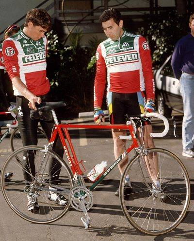 Eddy Merckx with Sean Yates