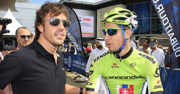 Fernando Alonso with Peter Sagan (FEATURED)
