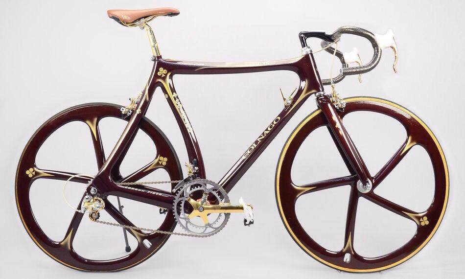 Colnago C35 equipped with Campagnolo Super Record Gold