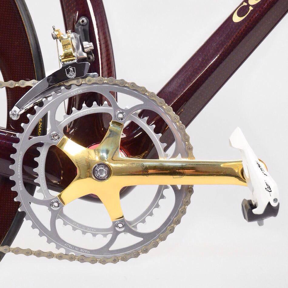 1989 Colnago C35 equipped with Campagnolo Super Record Gold - crankset
