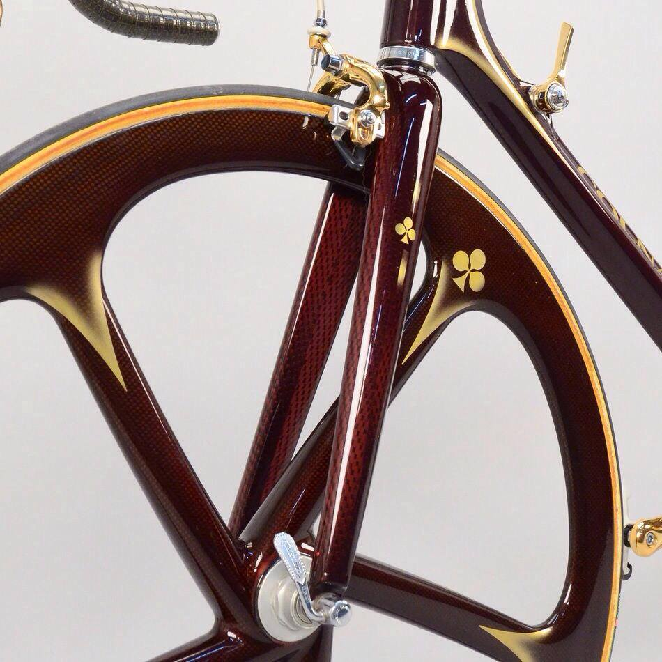 1989 Colnago C35 equipped with Campagnolo Super Record Gold - fork
