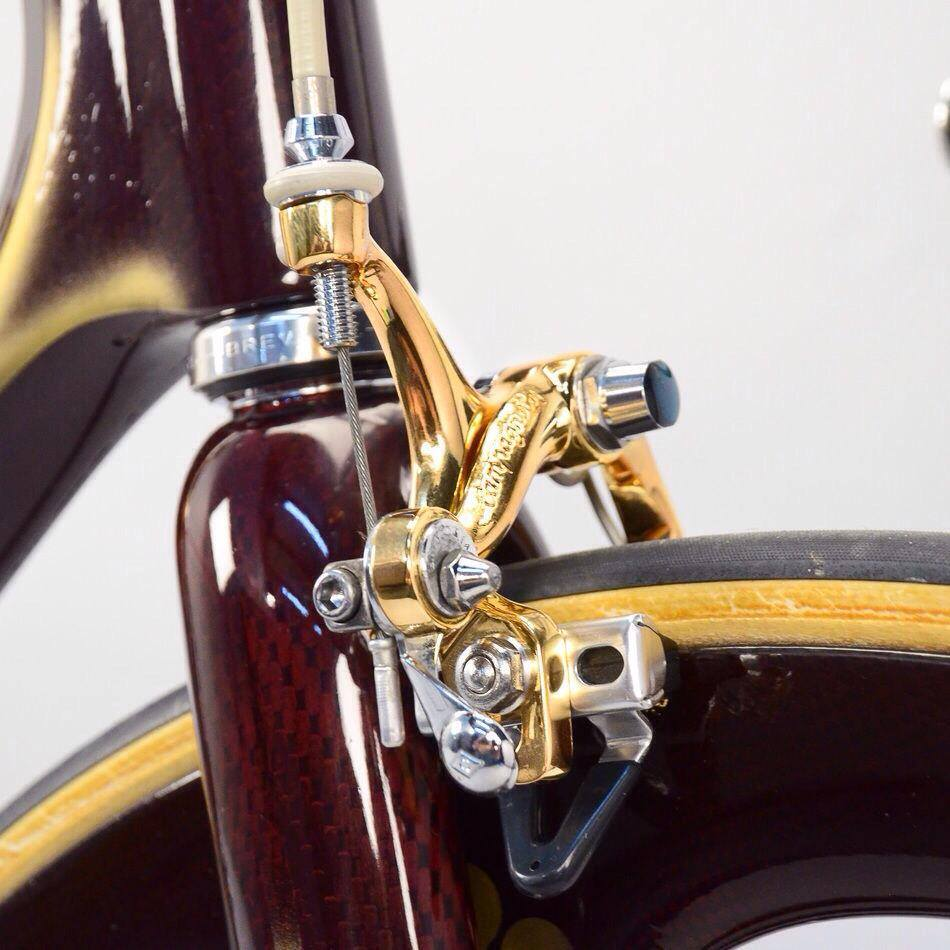 1989 Colnago C35 equipped with Campagnolo Super Record Gold - front brake