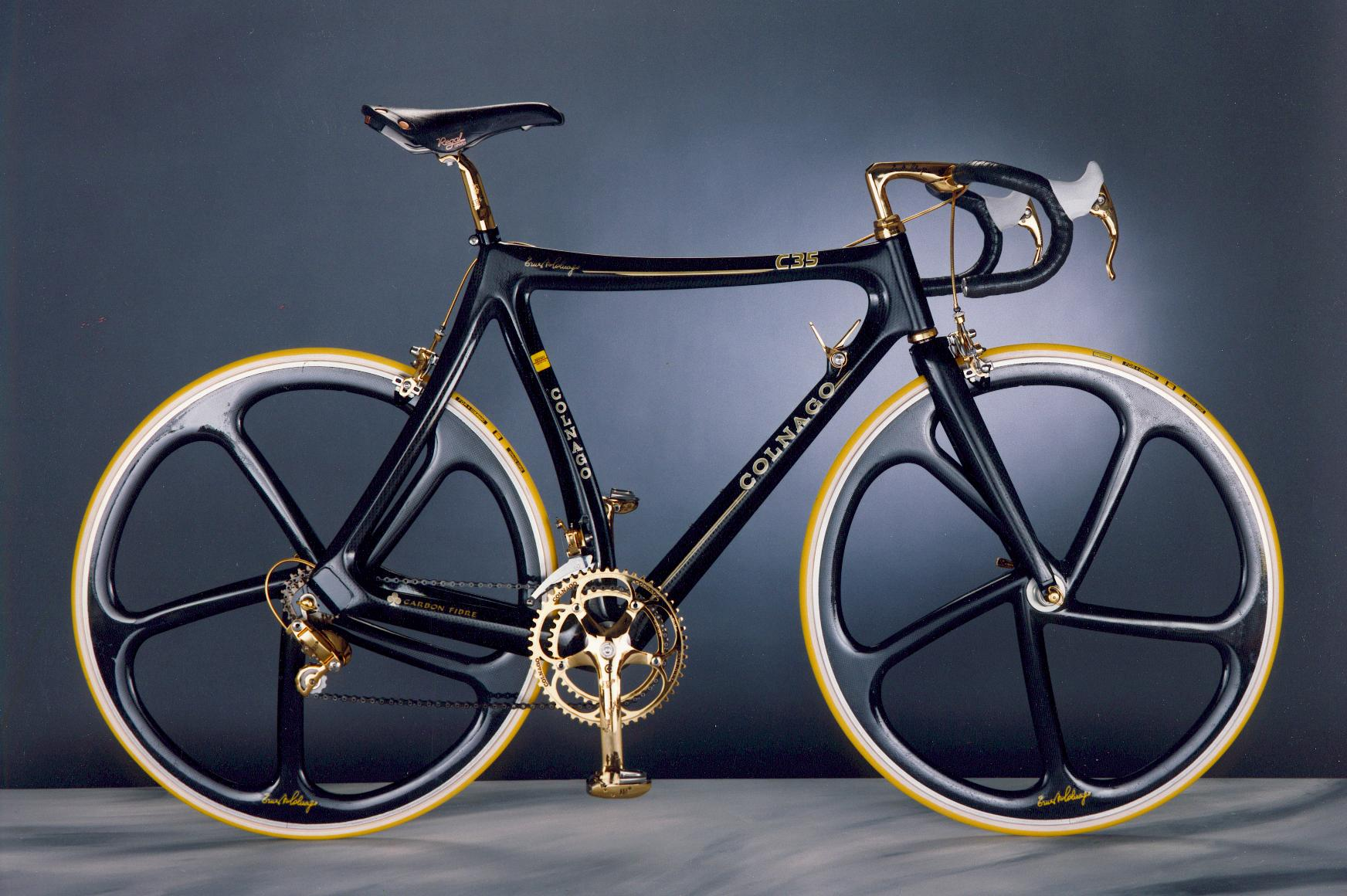 1989 Colnago C35 equipped with Campagnolo Super Record Gold
