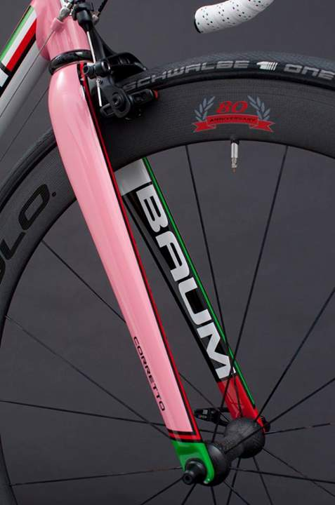 Baum Corretto with Campagnolo 80th Anniversary Groupset-fork