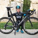 Chris Froome with his Pinarello Dogma F8