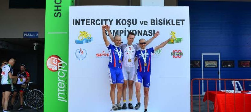 Intercity road race 40+ podium