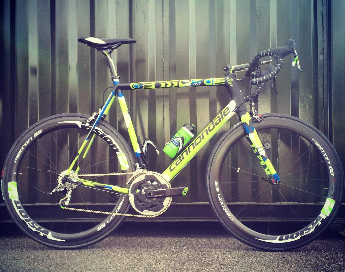 "Ted King's Cannondale EVO bike for the Tour de France 2014: ""Grizzly Bear"""