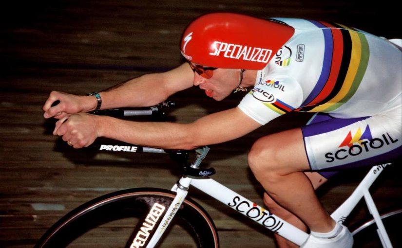 Graeme Obree in Superman Position