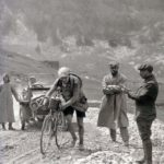 Octave Lapize walks over the Col du Tourmalet