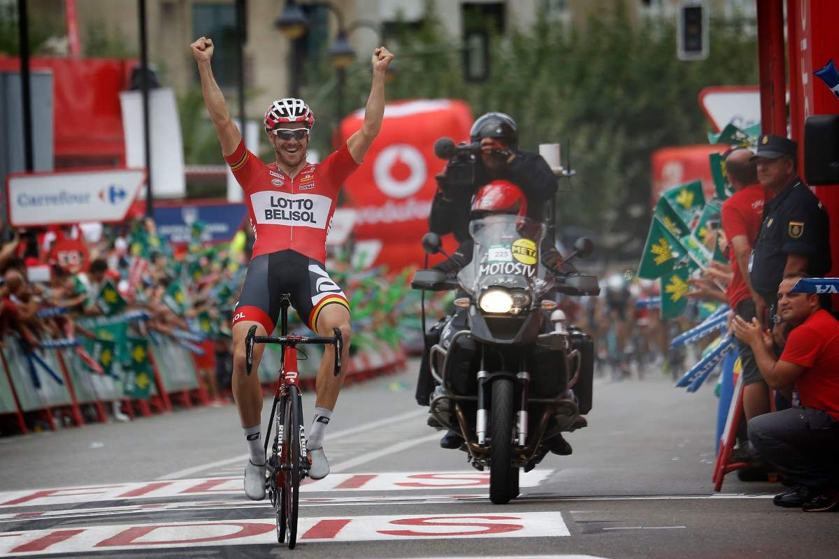 Adam Hansen wins Stage 19 of the Vuelta a España 2014
