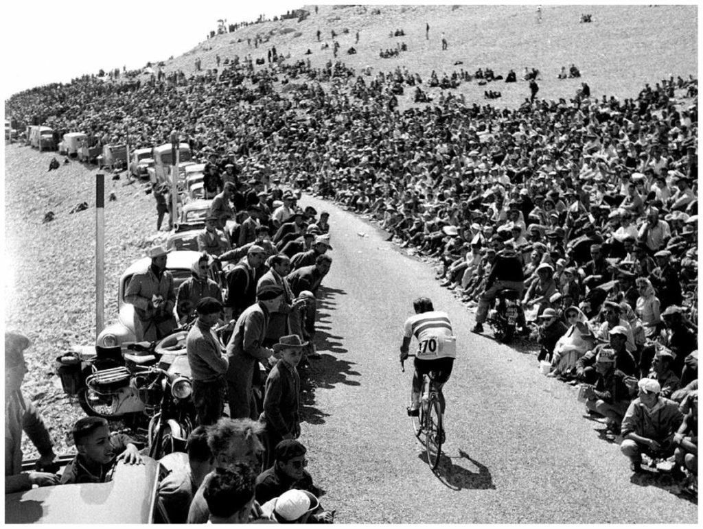 Charly Gaul on Mont-Ventoux, Tour de France 1958 stage 18
