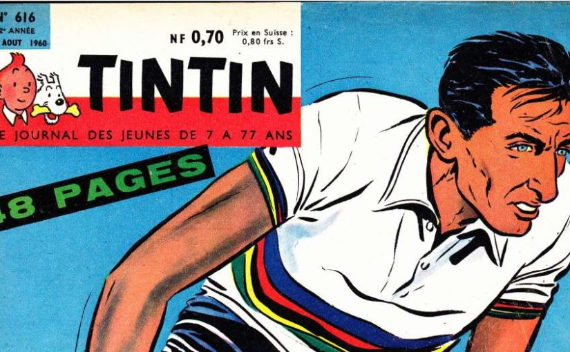 Fausto Coppi on TinTin Magazine