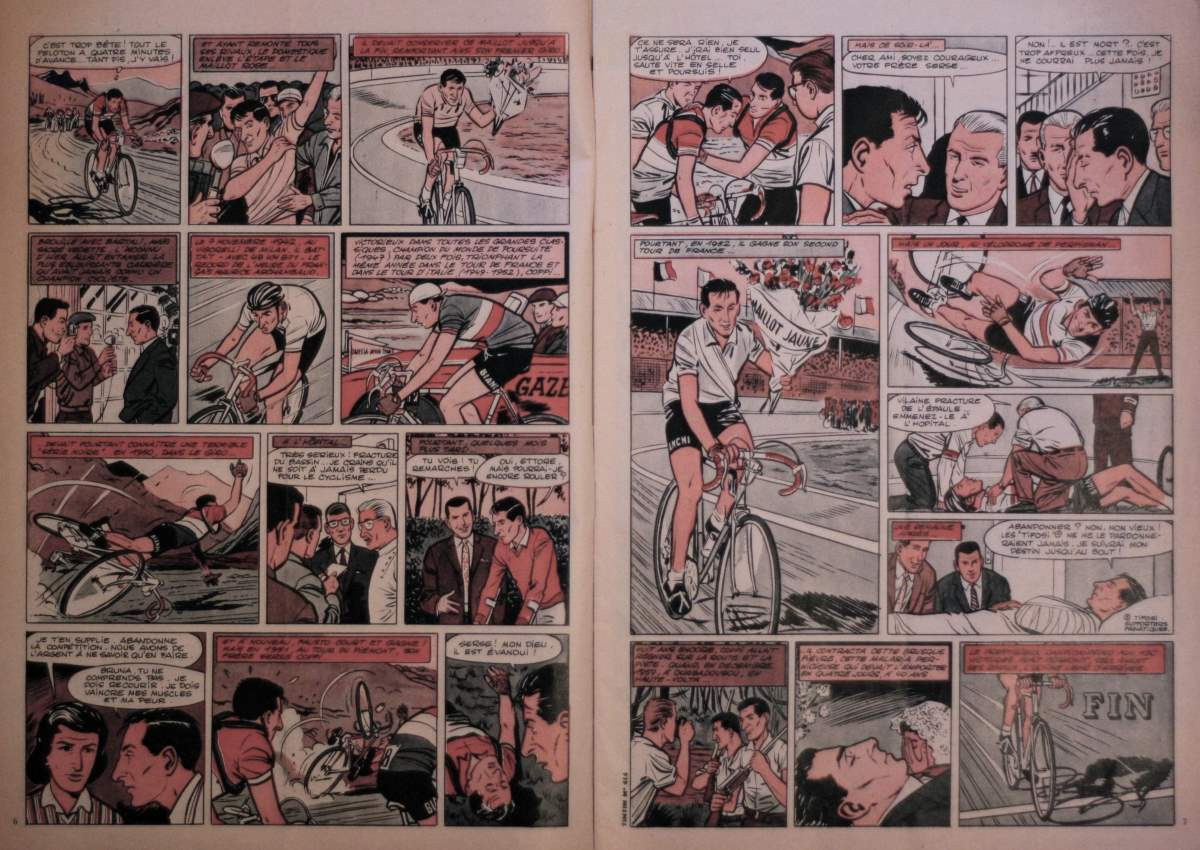 Fausto Coppi on TinTin Magazine - inside