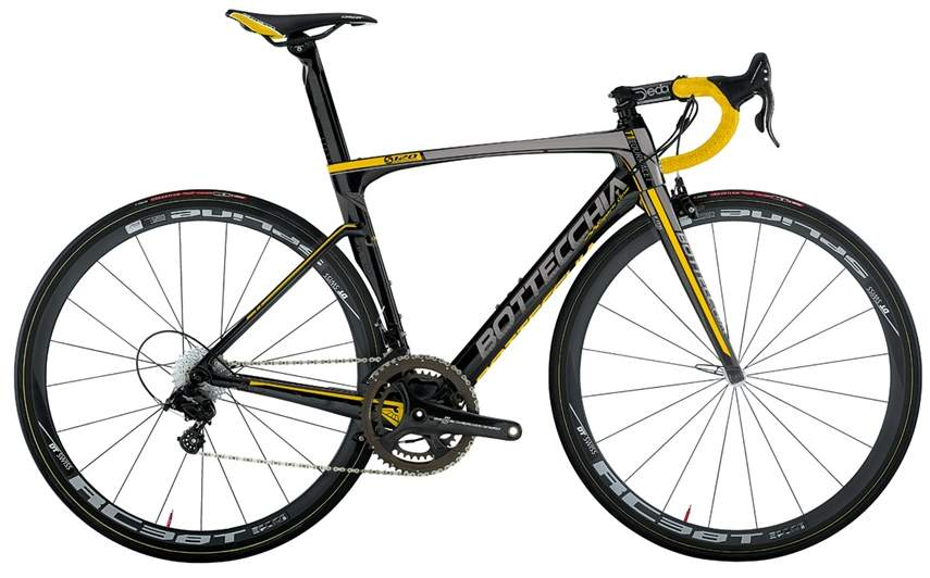 Bottecchia T1 Tourmalet 2015 matt carbon yellow