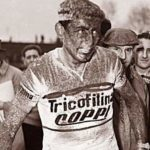 Fausto Coppi after Paris-Roubaix 1959