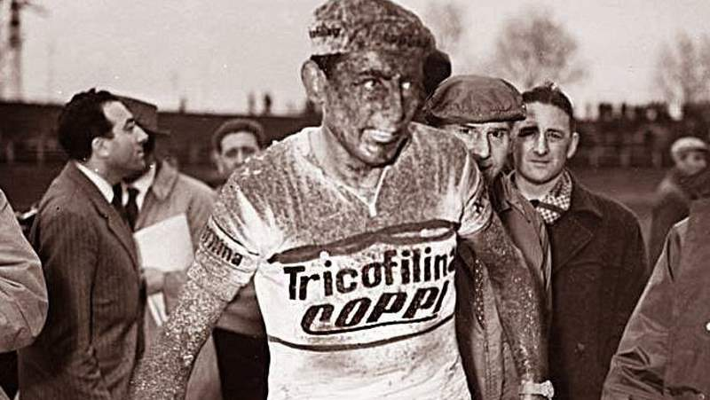 Fausto Coppi after Paris-Roubaix 1959 (featured)
