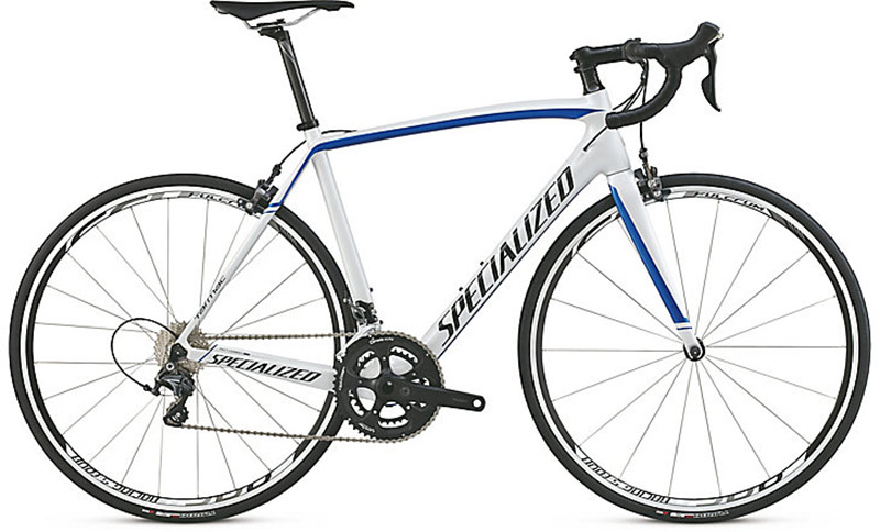 Specialized Tarmac 2015 SL4 Comp Ultegra (Gloss Metallic White/ Candy Blue)