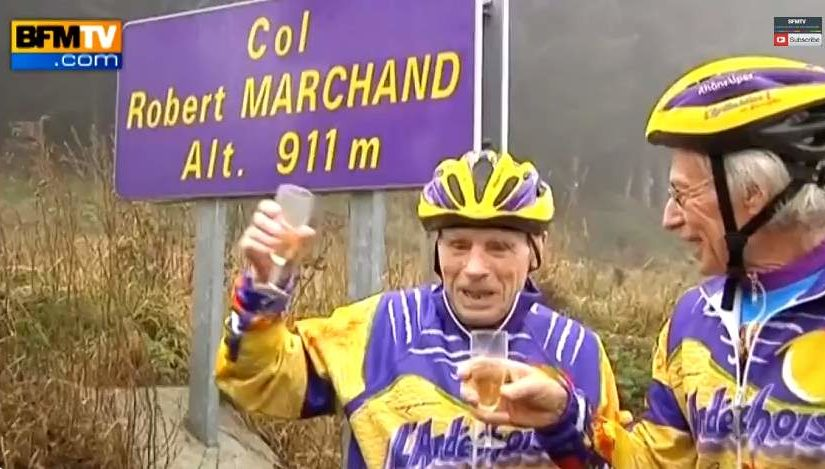 Robert Marchand celebrated his 103rd birthday by climbing the col named after him