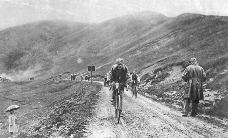Bartolomeo Aimo at stage 13 of the Tour de France 1925