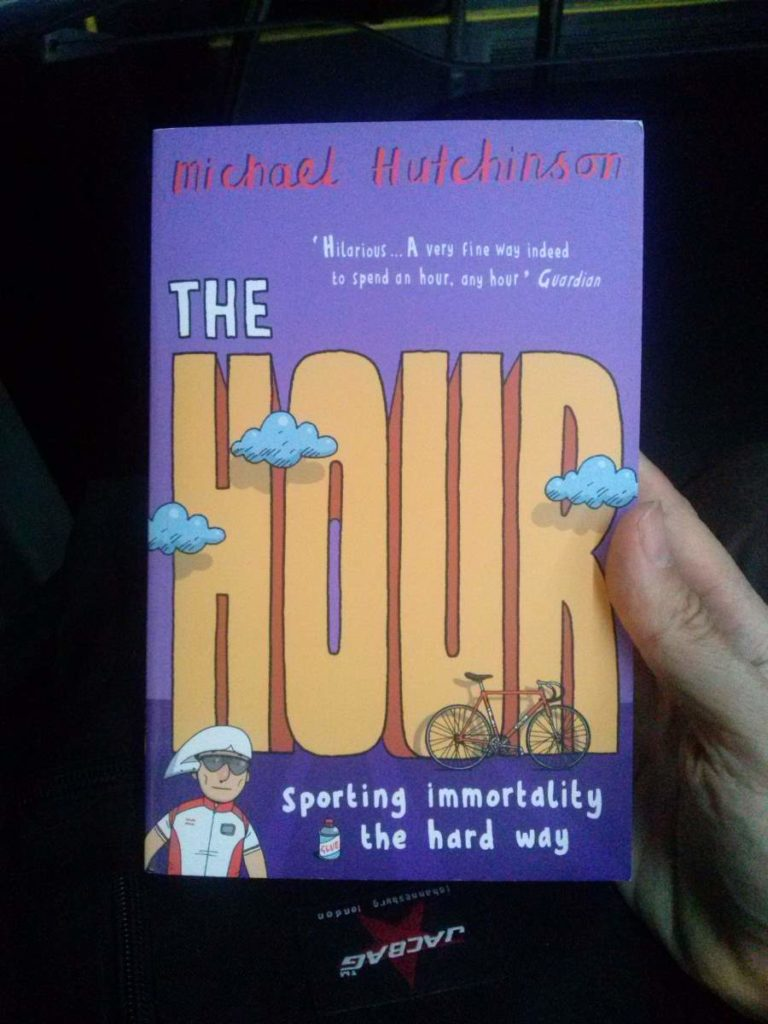 """The cover of Michael Hutchinson's """"The Hour"""""""