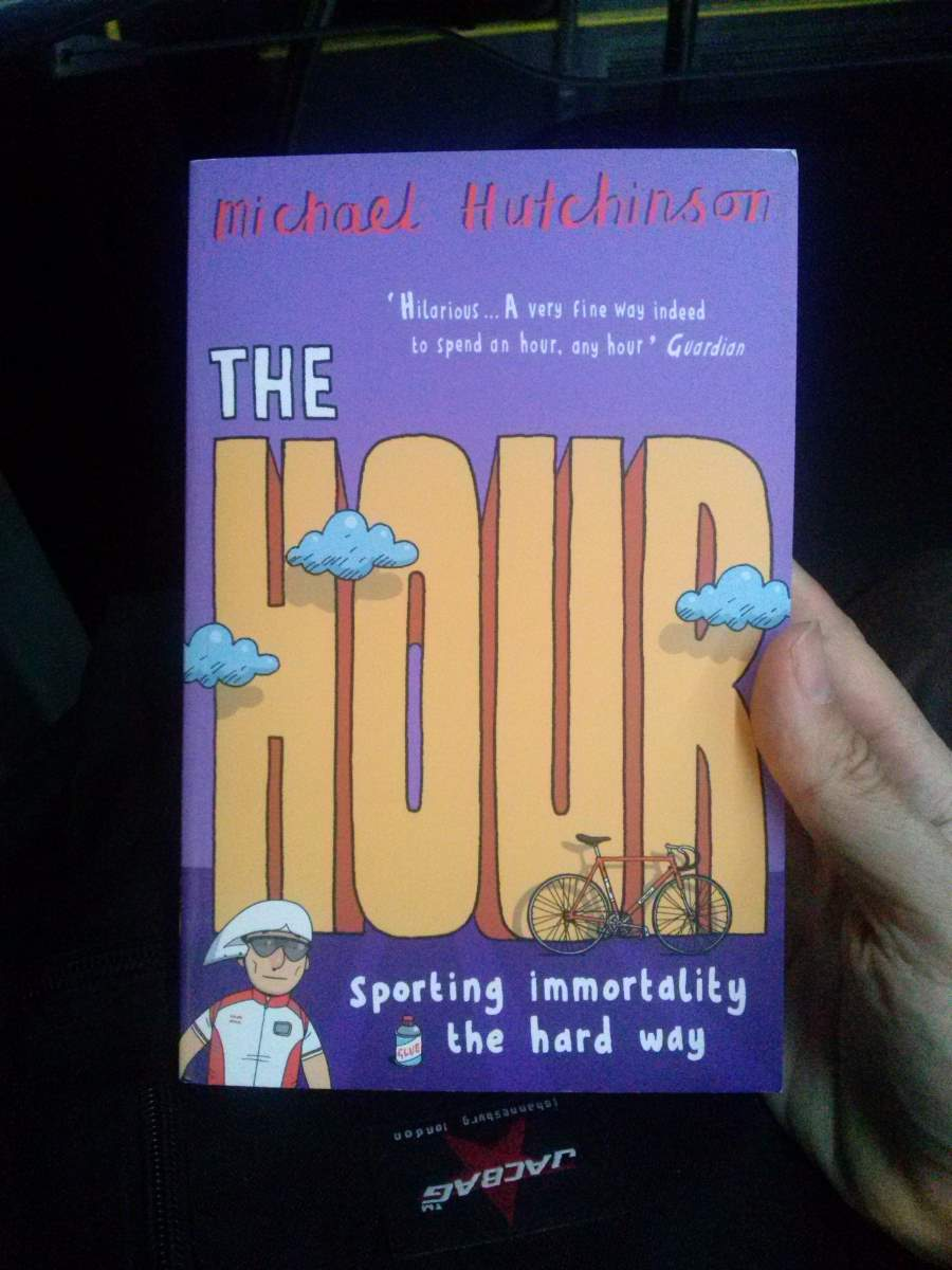 "The cover of Michael Hutchinson's ""The Hour"""