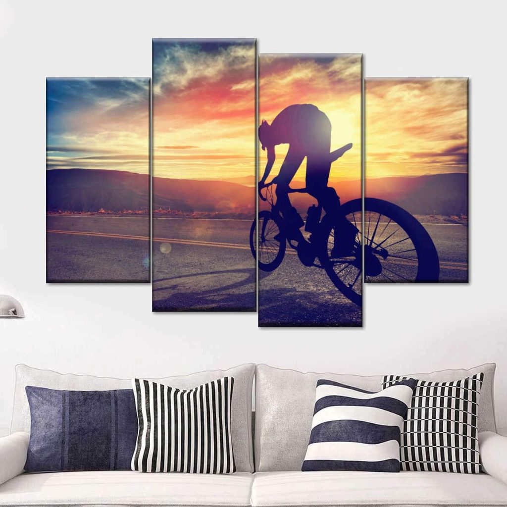 Cycling-related gift ideas - Road Cycling Multi Panel Canvas Wall Art