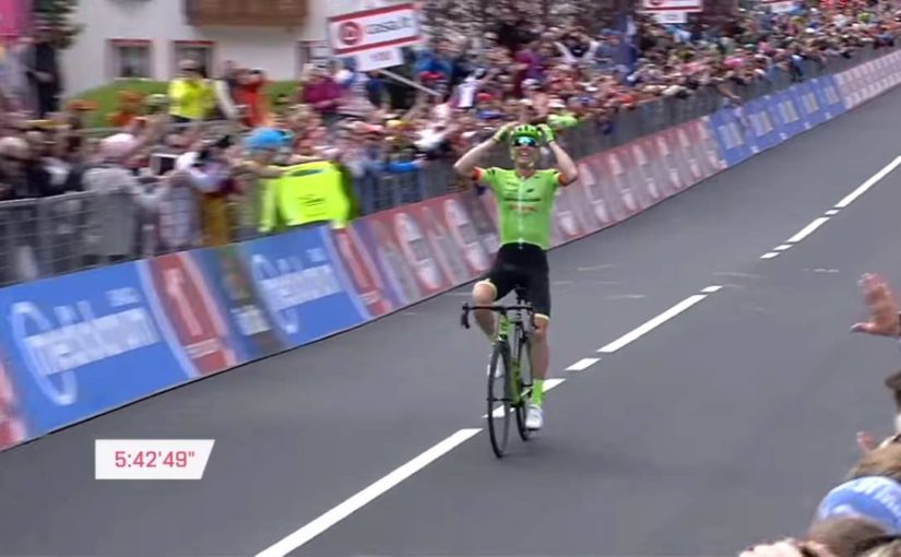 Pierre Rolland wins Giro d'Italia 2017 stage 17