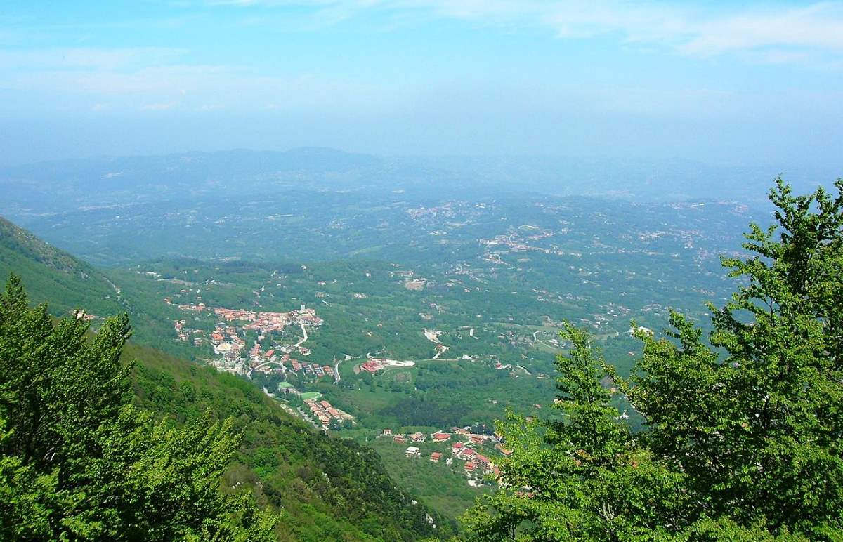 View from Montevergine
