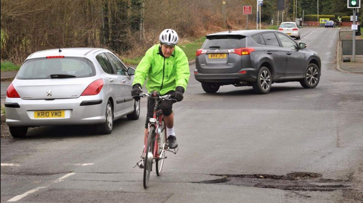 Potholes: a danger to cyclists