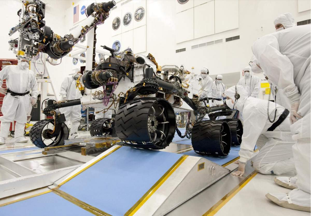 Ramp Drive Test for NASA's Curiosity Mars Rover