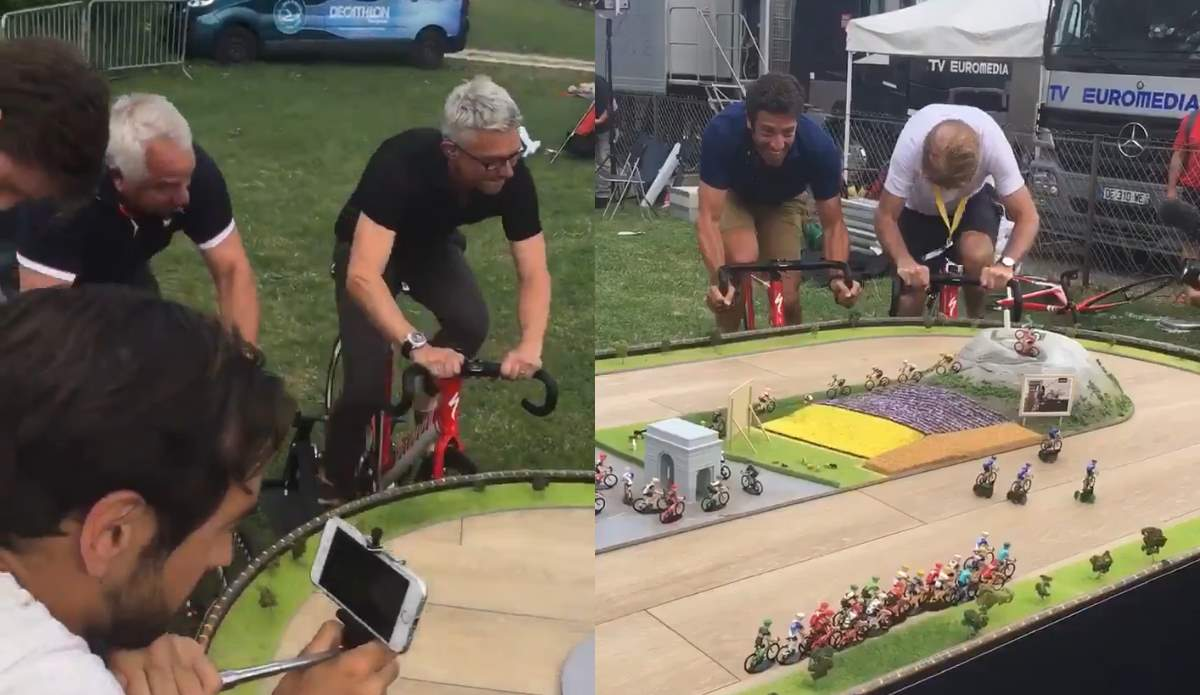 LeMond, Kelly, Flecha, and Edwards race against each other