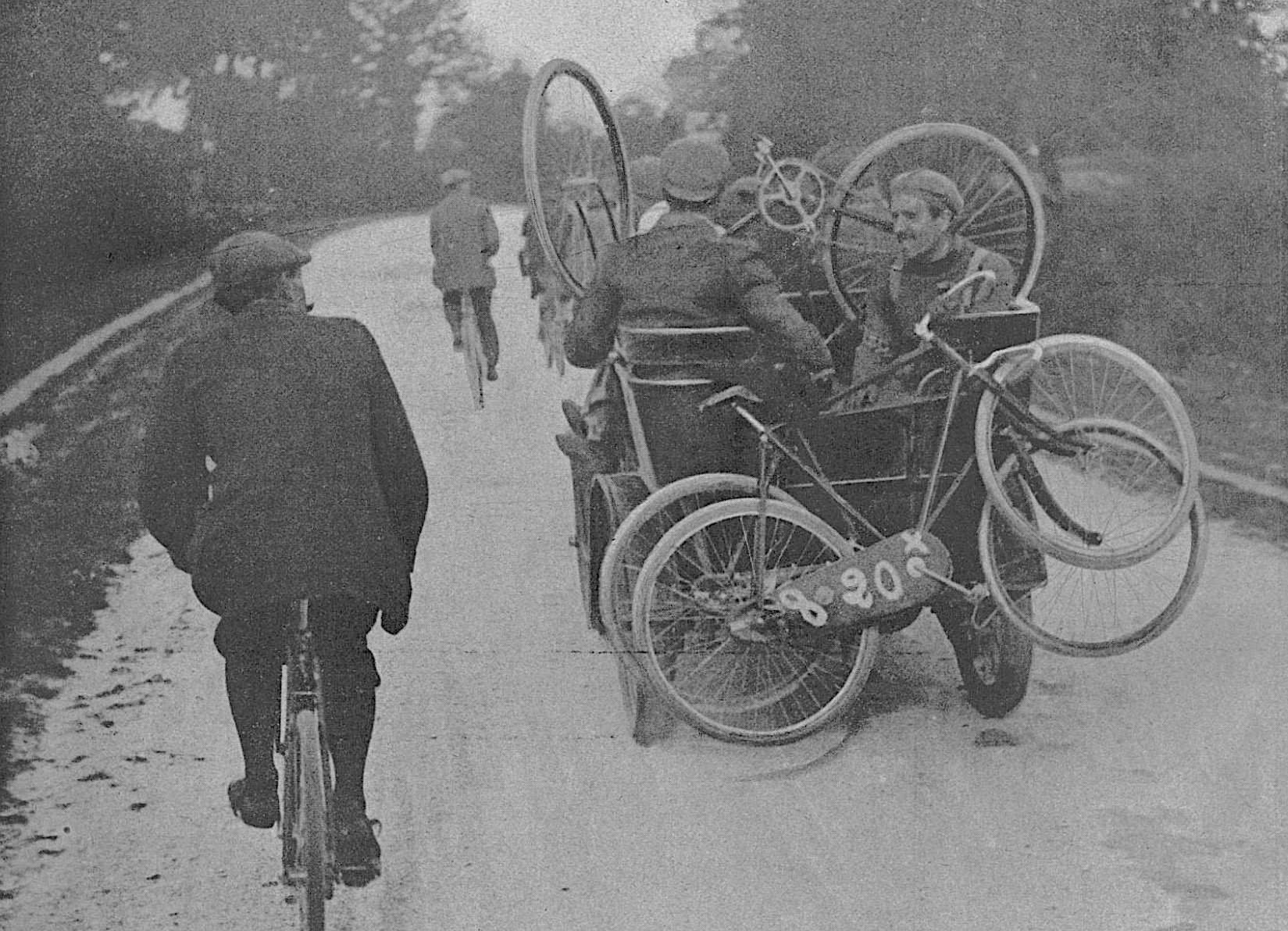 Lucien Lesna during the Paris-Brest-Paris 1901 edition