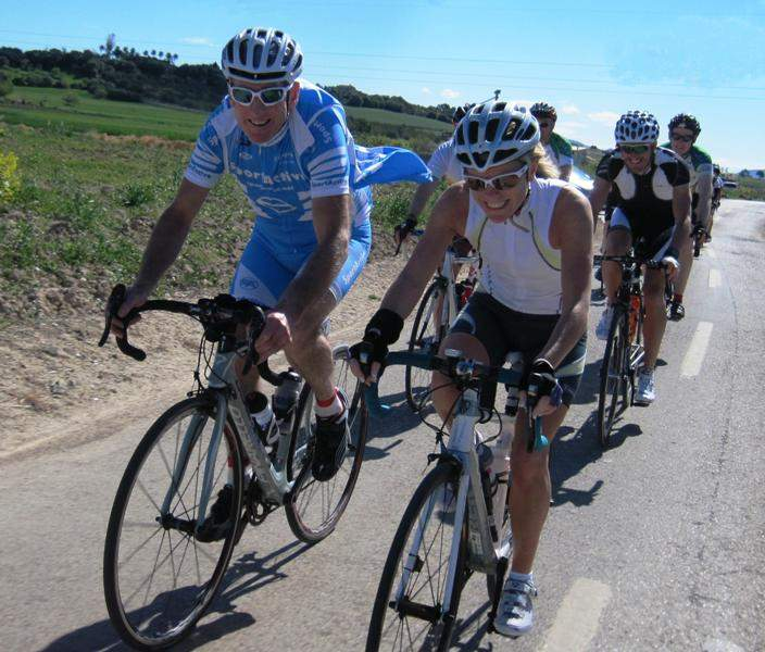 Riding with Sean Kelly in Mallorca
