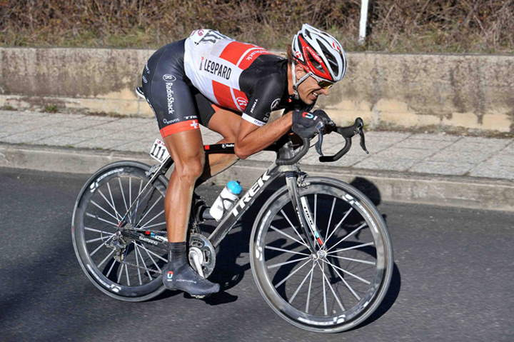 Fabian Cancellara riding his Trek Domane at the Strade Bianche 2012 edition