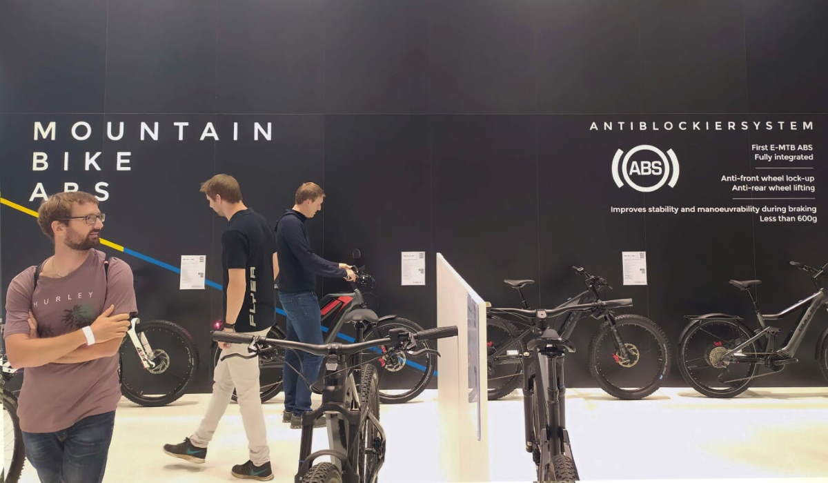 Eurobike 2019 - the first E-BIKE to come equipped with the innovative ABS (anti-blocking system) developed by blubrake is being presented