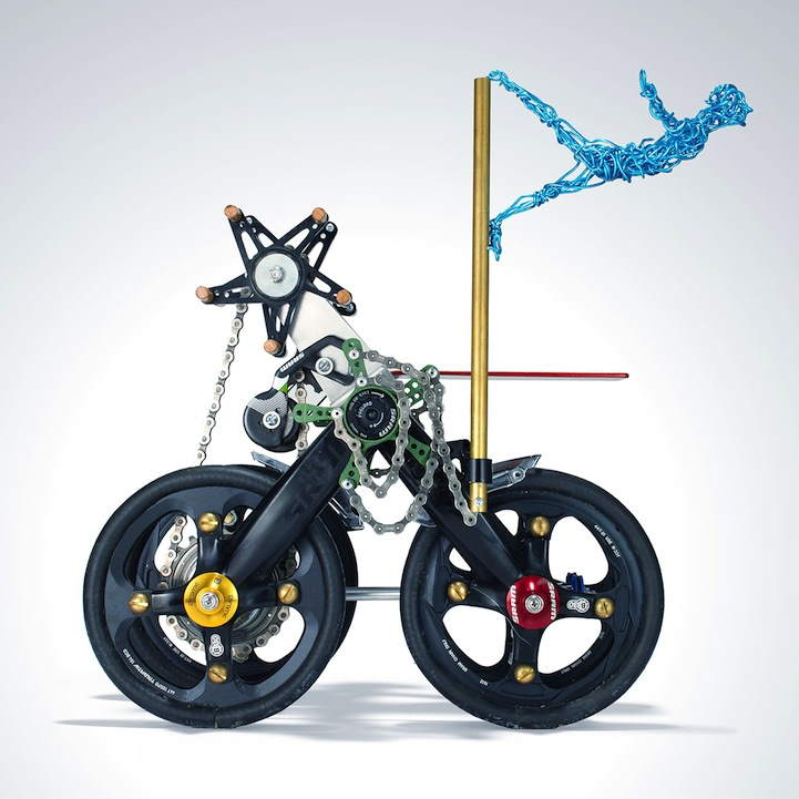 "SRAM pART Project - ""The Amazing Hjalmer and His Astonishing One-Person Self-Propelled Circus Machine"" by Bruce White"