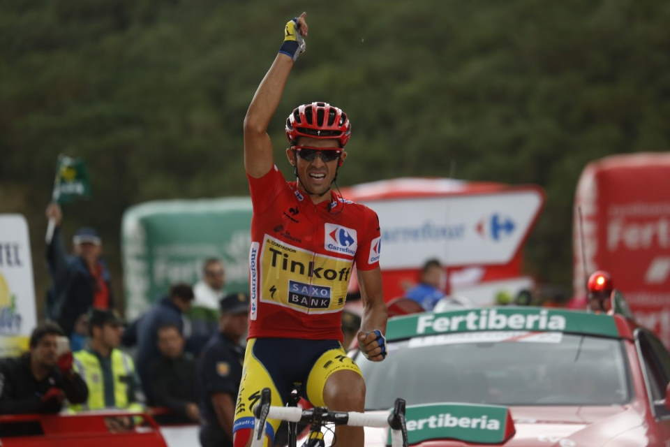 Gallery of Vélo d'Or winners (2010-2019): Alberto Contador wins stage 16 of the Vuelta a España 2014
