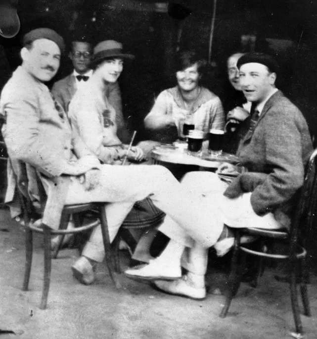 Ernest Hemingway with Lady Duff Twysden, Hadley, and friends