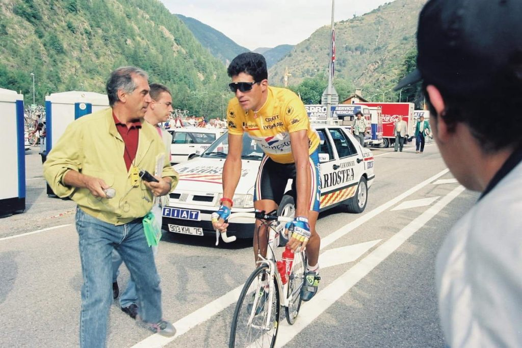 Gallery of Vélo d'Or winners (1992-1999): Miguel Induráin during the Tour de France 1993