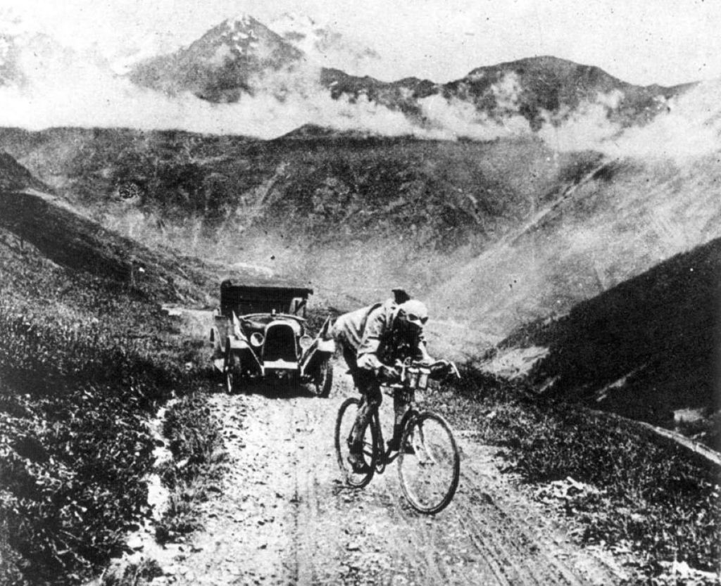 Hemingway's grimpeurs: Ottavio Bottecchia on the Col d'Izoard. 1924 Tour de France.