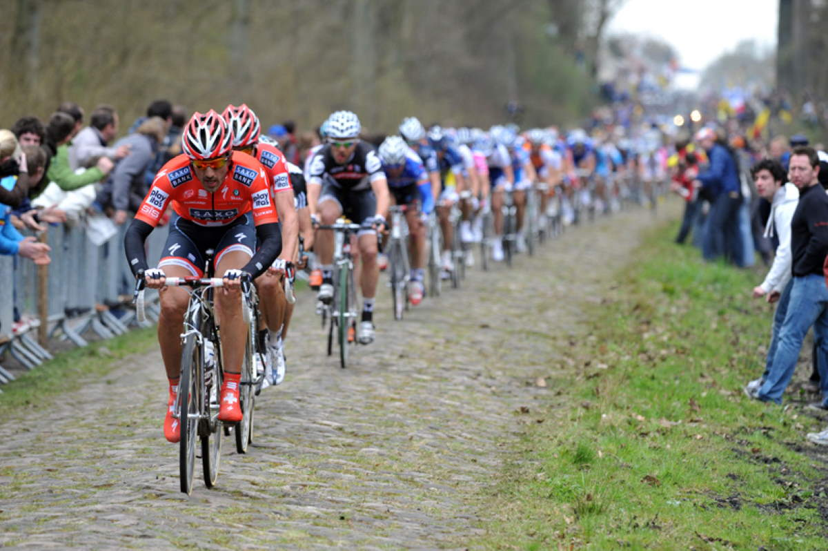 Fabian Cancellara during the Paris-Roubaix 2010