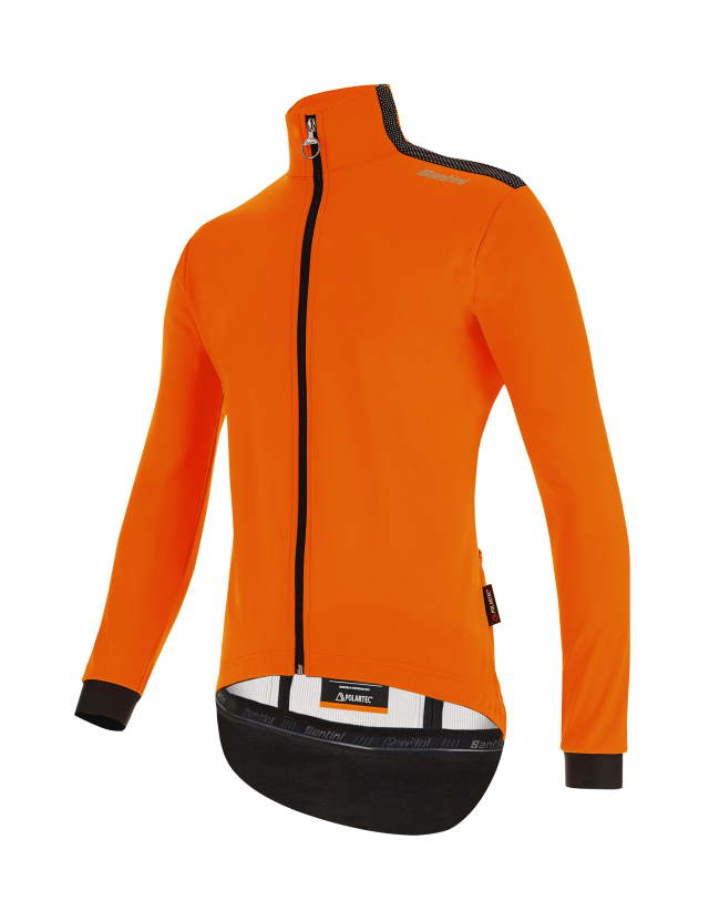 SANTINI Vega Multi jacket men orange front