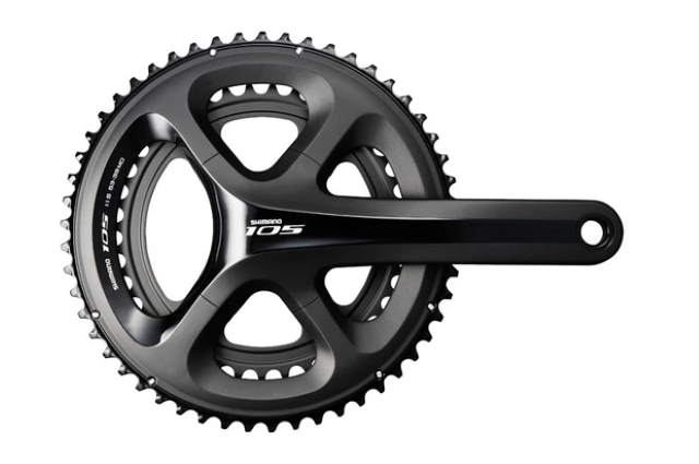 Shimano 105 5800 11-speed crankset (black)