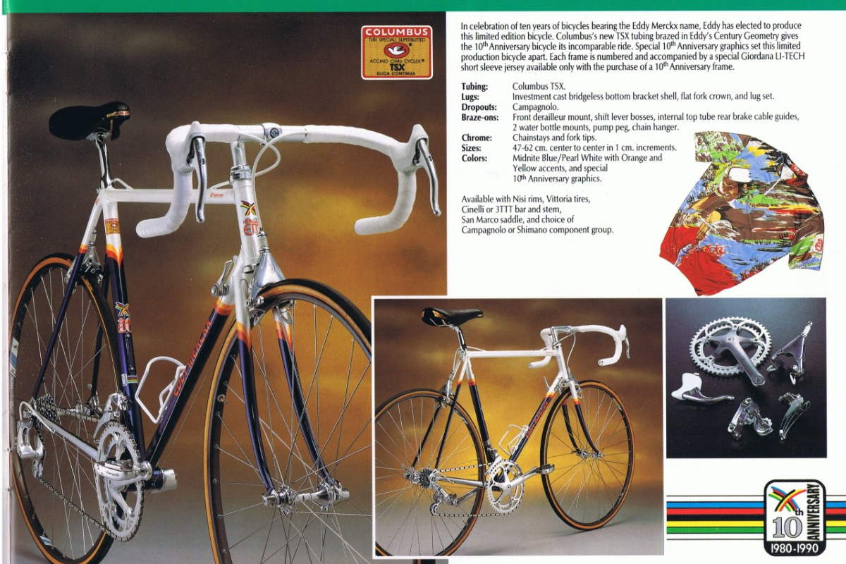 Eddy Merckx 10th anniversary road bike (cropped)