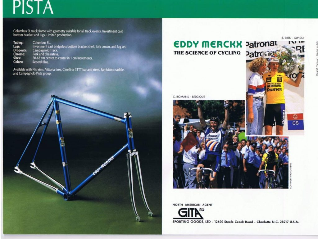 Eddy Merckx 10th Anniversary Pista 1990