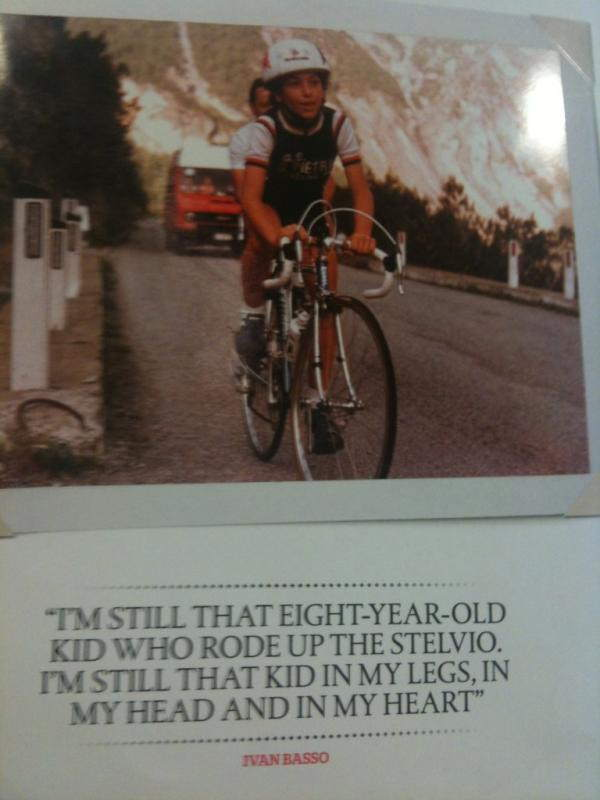 Best Cycling Quotes: 8-years-old Ivan Basso climbing Passo dello Stelvio