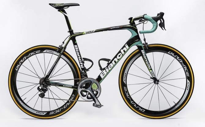 Team Belkin's Bianchi Infinito CV for the 2014 cycling season