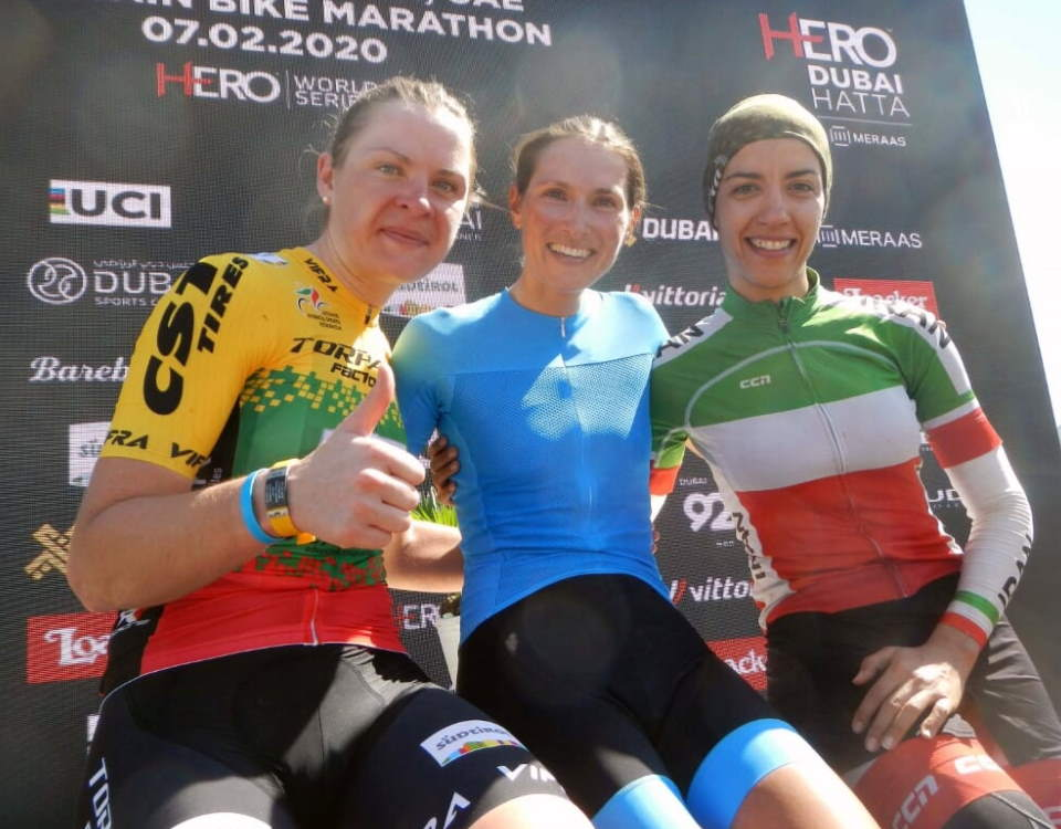 HERO Dubai 2020 Women's Podium