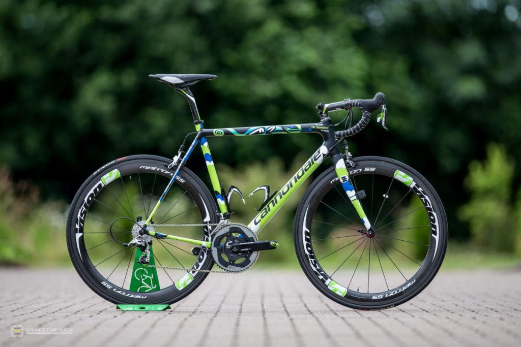 Alessandro De Marchi custom-painted Cannondale EVO bike for the Tour de France 2014